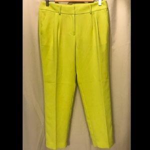 J.Crew neon yellow dress pants